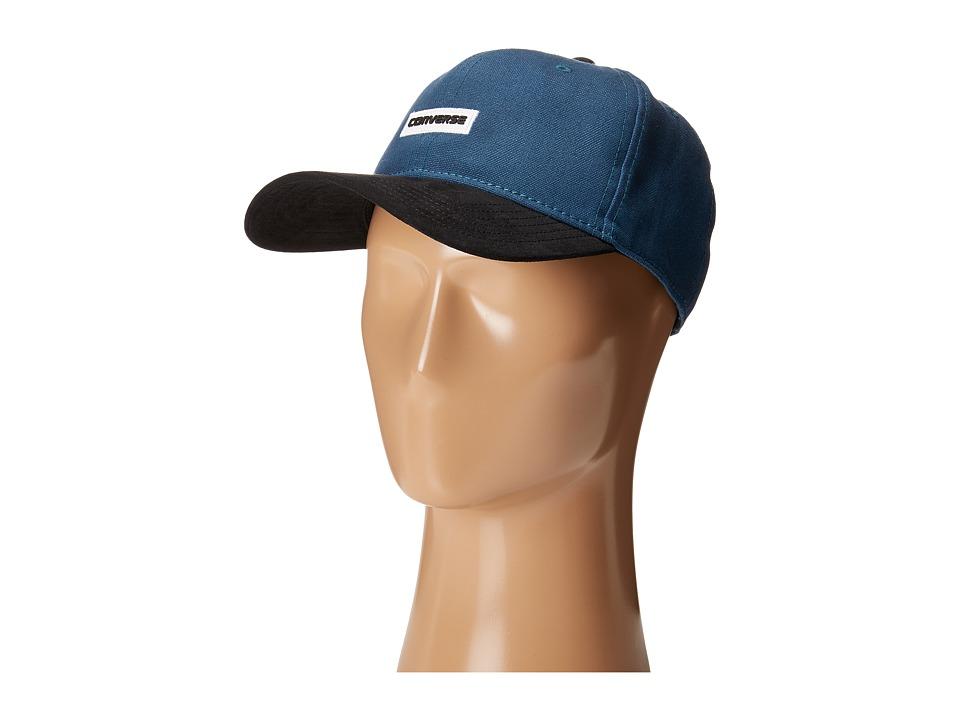 Converse - Suede Precurve Baseball Cap (Blue Fir) Baseball Caps