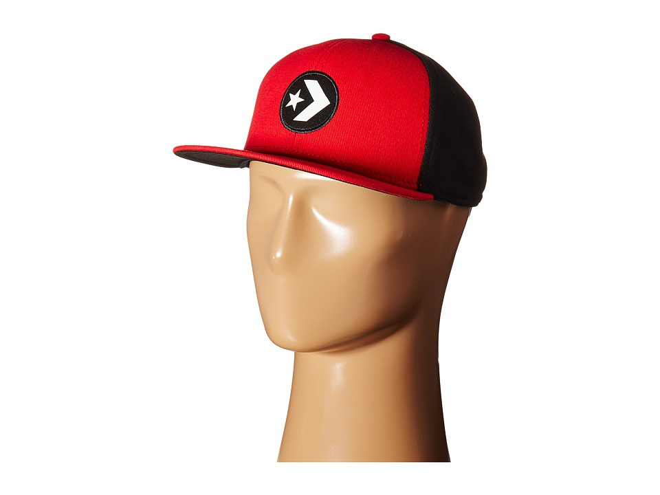 Converse - Cons Color Block Snapback Cap (Converse Red) Caps