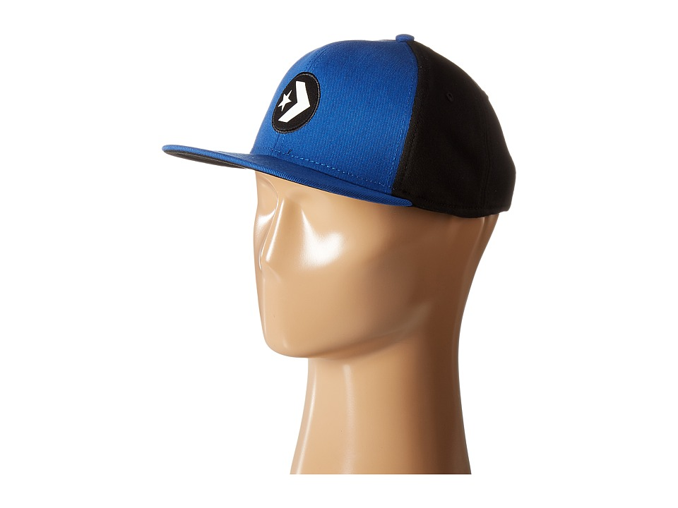 Converse - Cons Color Block Snapback Cap (Converse Blue) Caps