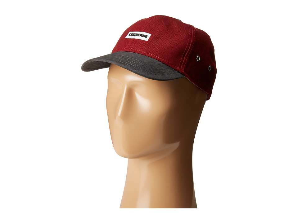 Converse - Core Shield/Suede Baseball Cap (Red Block) Baseball Caps