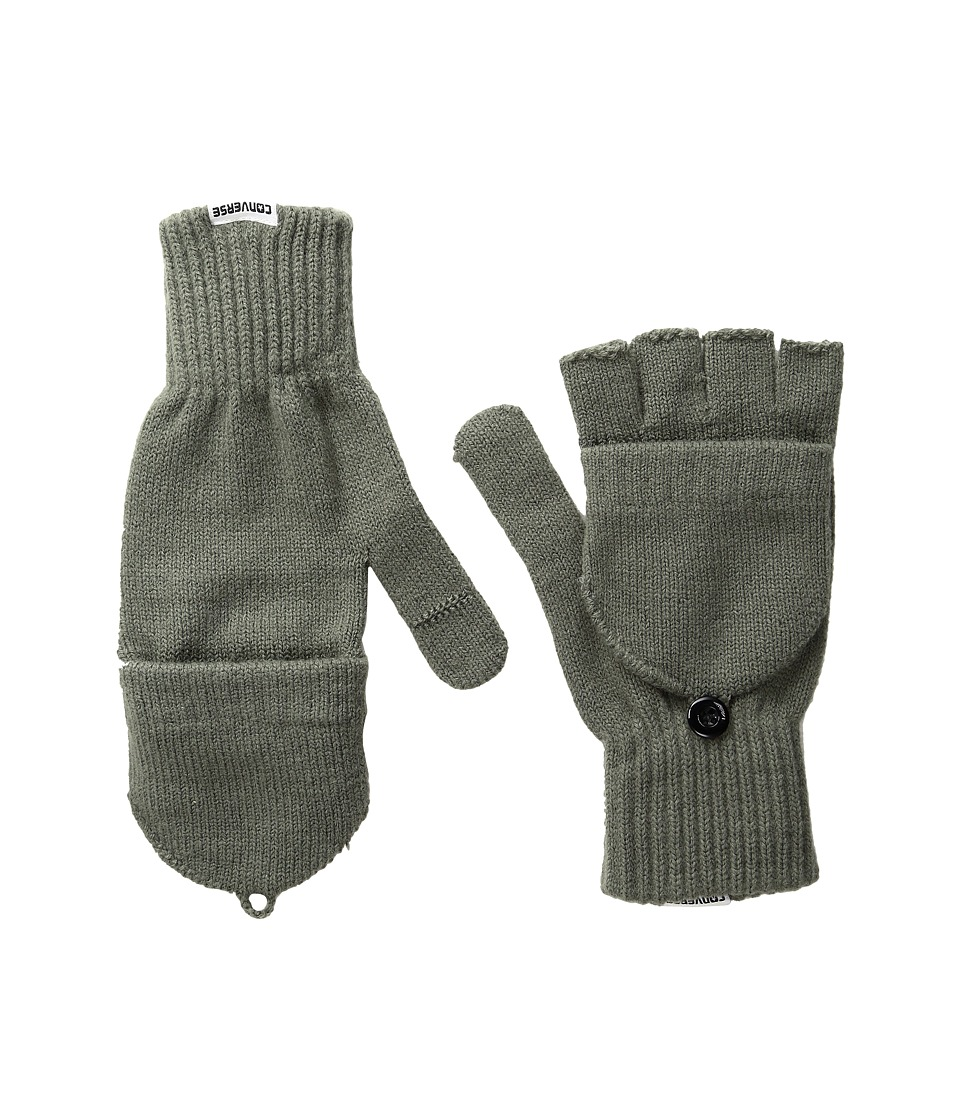 Converse - Core Mitten Flip Gloves (Charcoal) Extreme Cold Weather Gloves