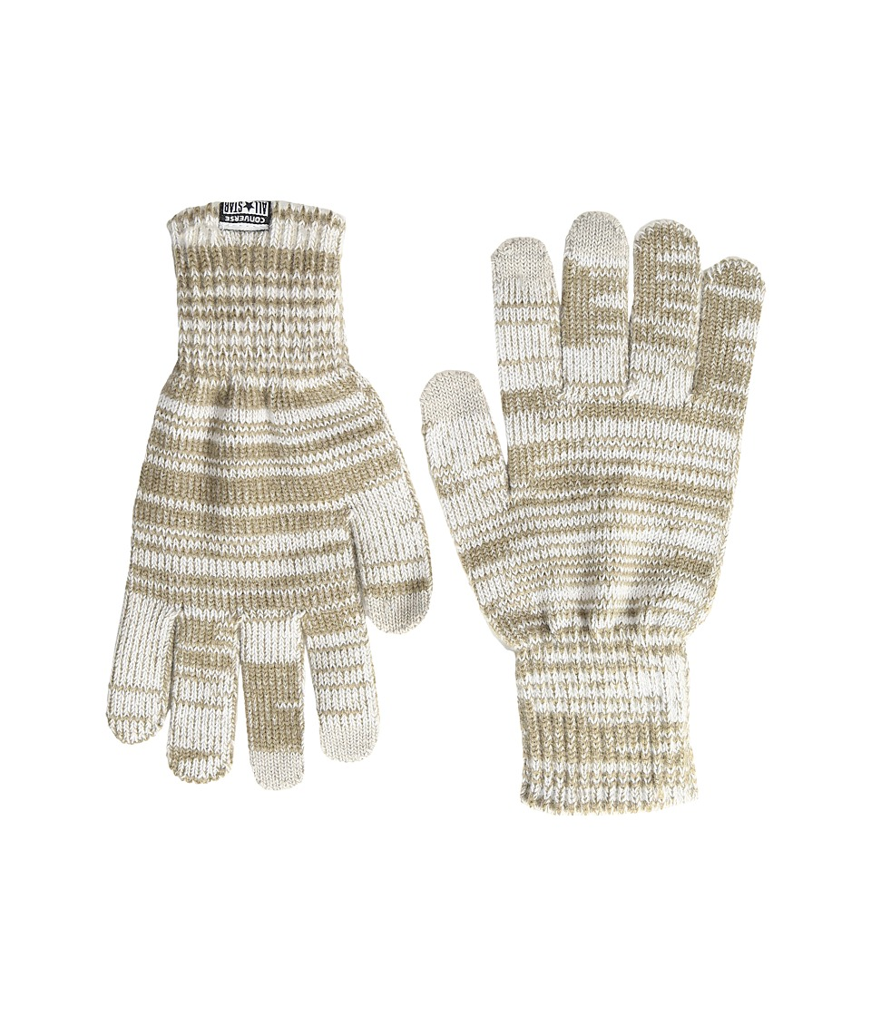 Converse - Knit Touchteck Gloves (Converse White) Extreme Cold Weather Gloves