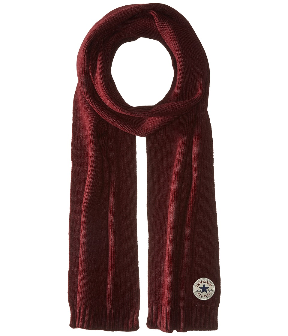 Converse - Core Knit Scarf (Deep Bordeaux) Scarves
