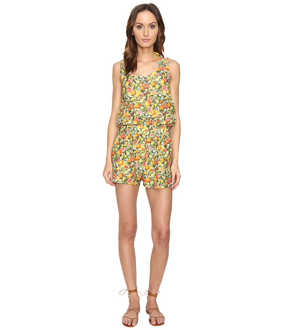 Stella McCartney - Iconic Prints All-In-One Romper Cover-Up (Yellow Citrus Print) Women's Jumpsuit & Rompers One Piece