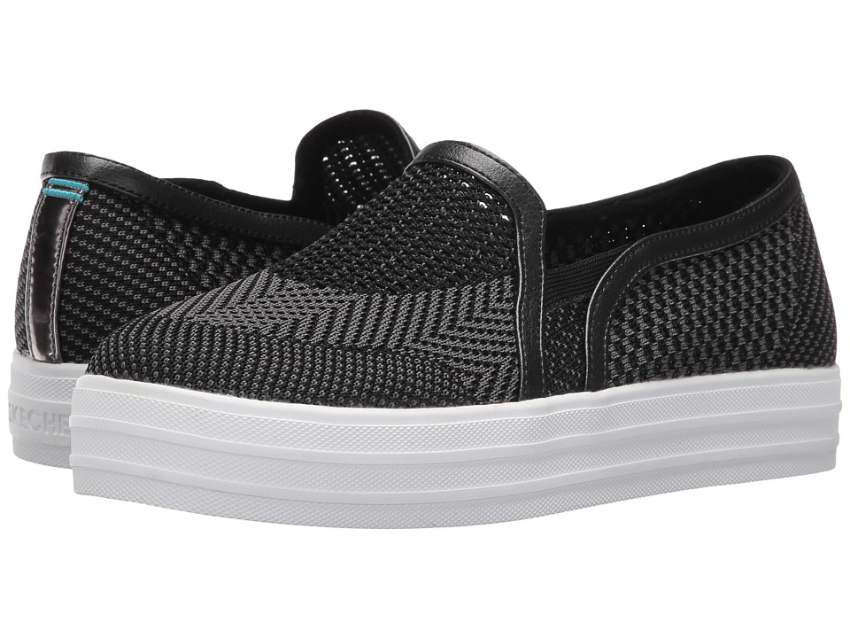 SKECHERS - Double Up (Black) Women's Slip on Shoes