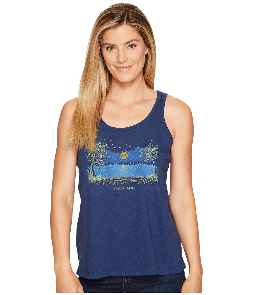 Life is Good - Happy Hour Breezy Tank (Darkest Blue) Women's Sleeveless