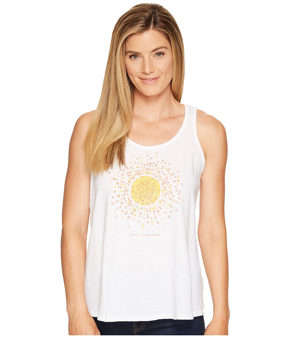 Life is Good - Hello Sun Breezy Tank (Cloud White) Women's Sleeveless