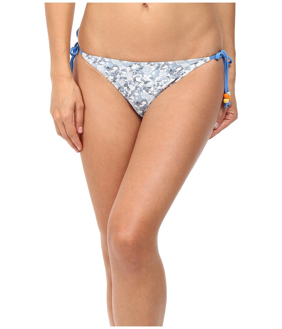 Stella McCartney Iconic Prints Tie Side Bikini Bottom Blue Citrus Print Swimwear