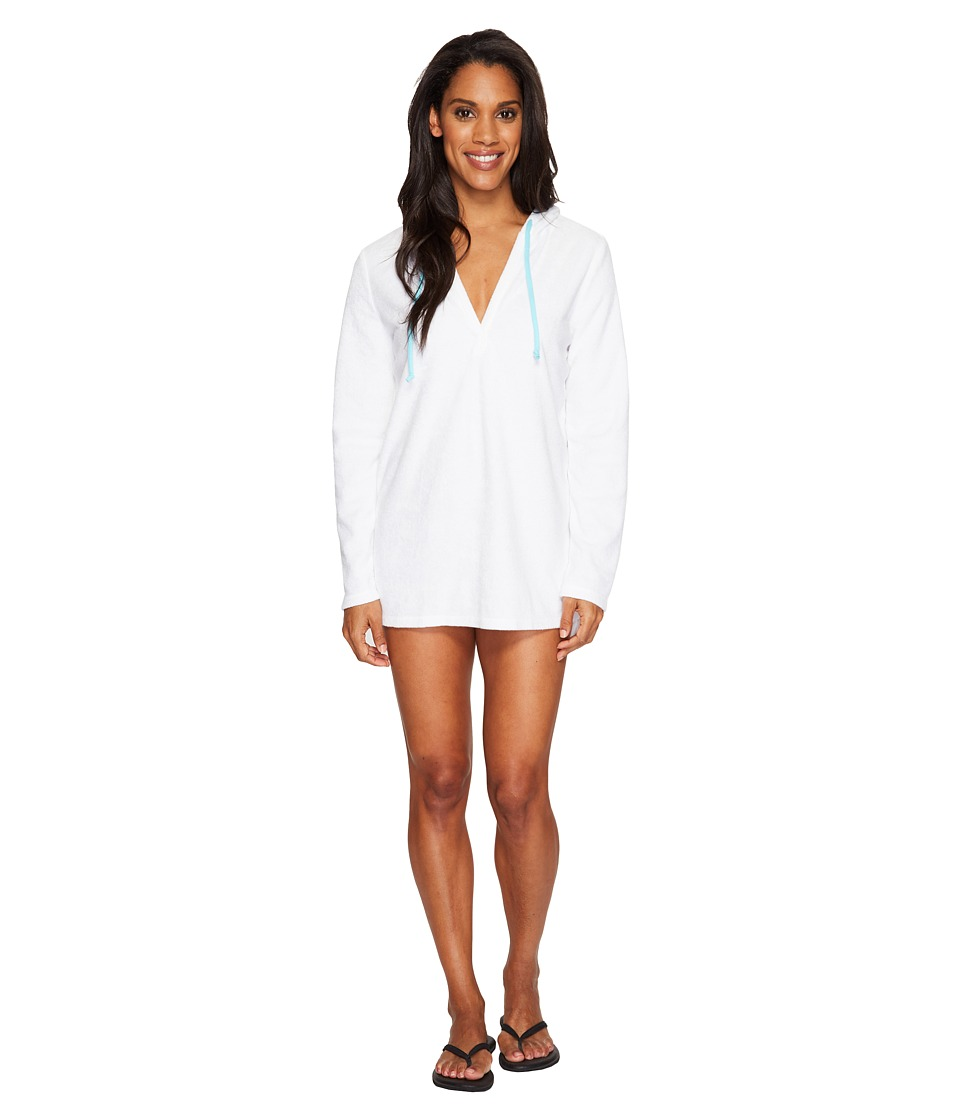 Life is Good - Sunset Terry Beach Cover-Up (Cloud White) Women's Swimwear