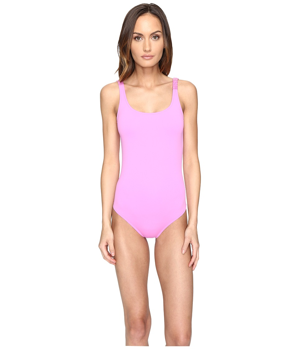 Moschino - Solid Maillot (Pink) Women's Swimsuits One Piece