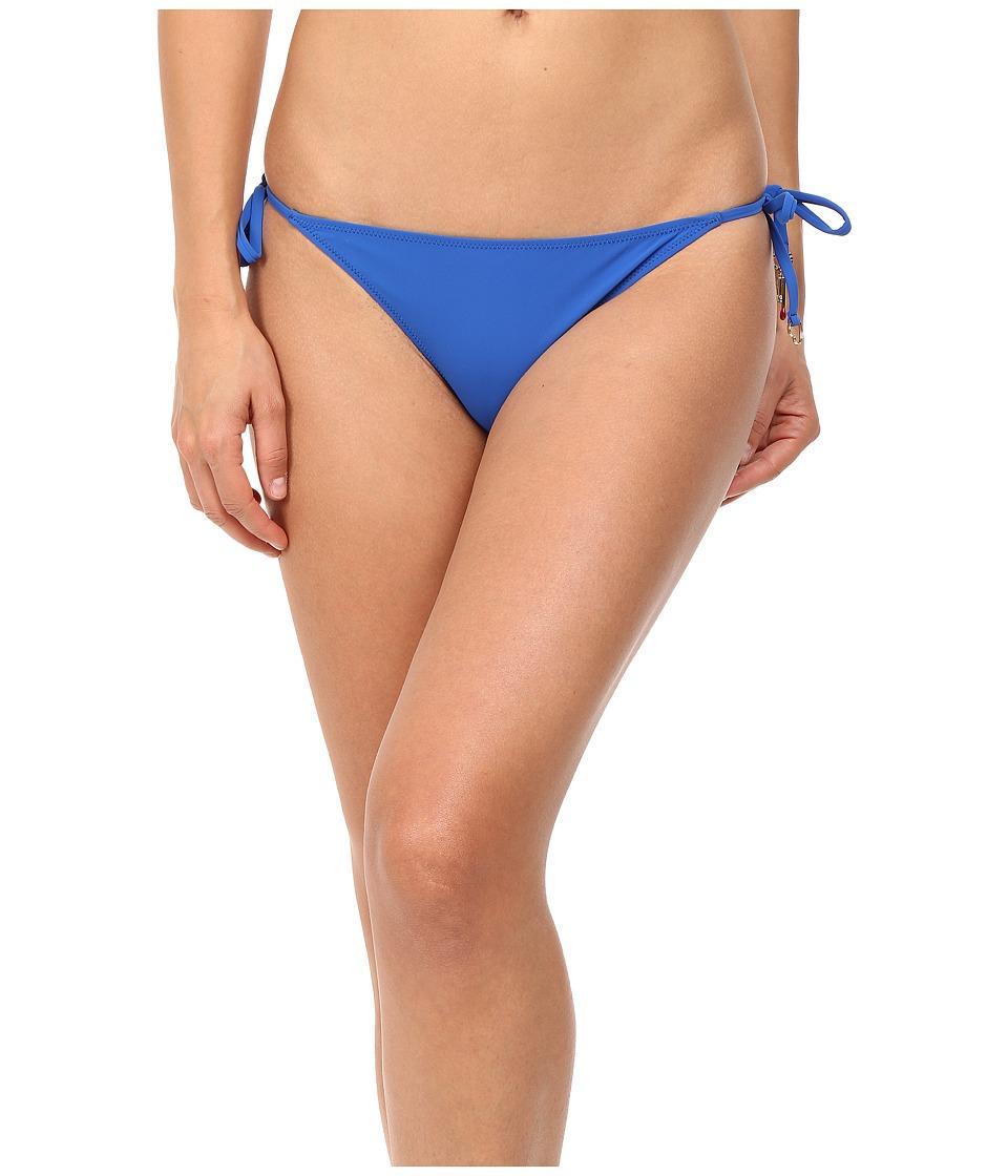 Stella McCartney Timeless Basics Tie Side Bikini Bottom Royal Blue Swimwear