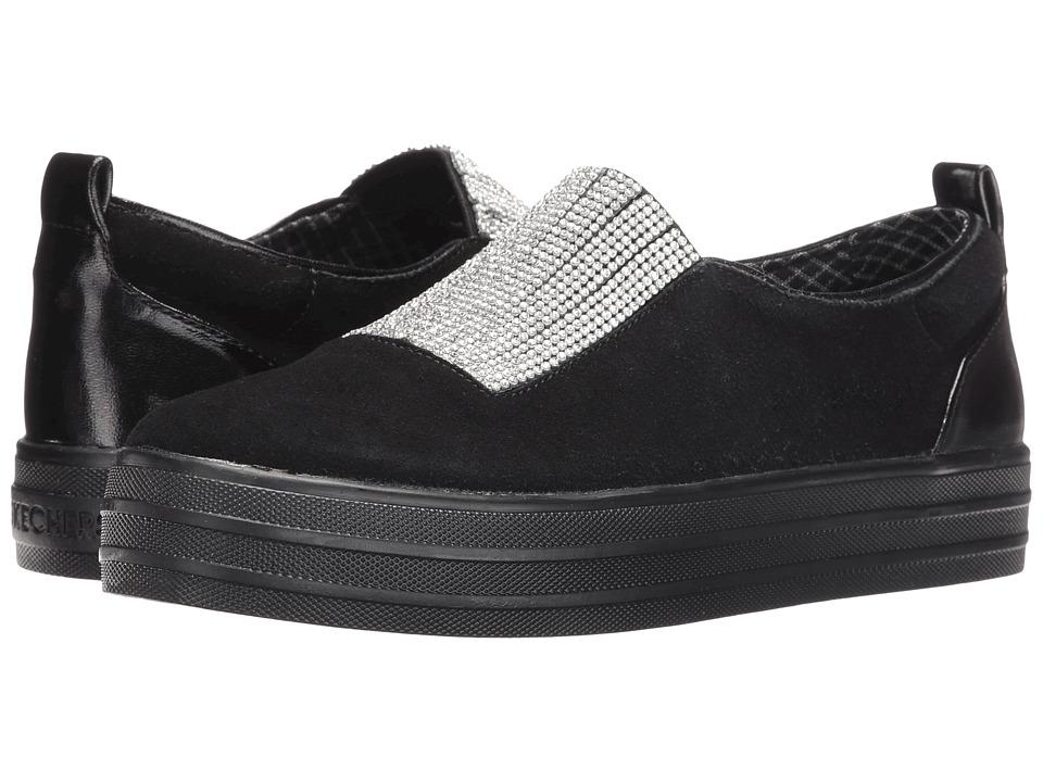SKECHERS Street - Double - Dazzle'e (Black 2) Women's Slip on Shoes