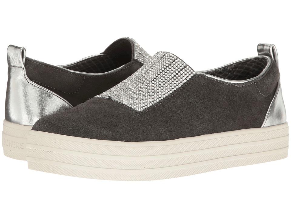 SKECHERS - Double - Dazzle'e (Charcoal) Women's Slip on Shoes