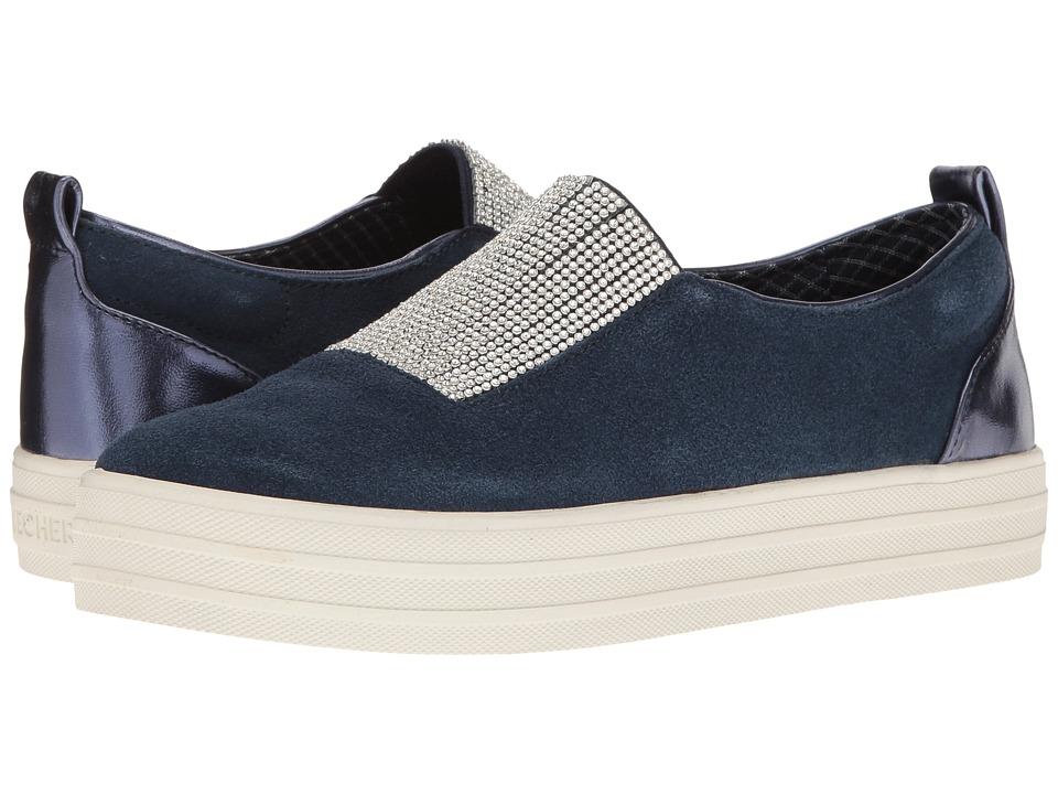 SKECHERS - Double - Dazzle'e (Navy) Women's Slip on Shoes