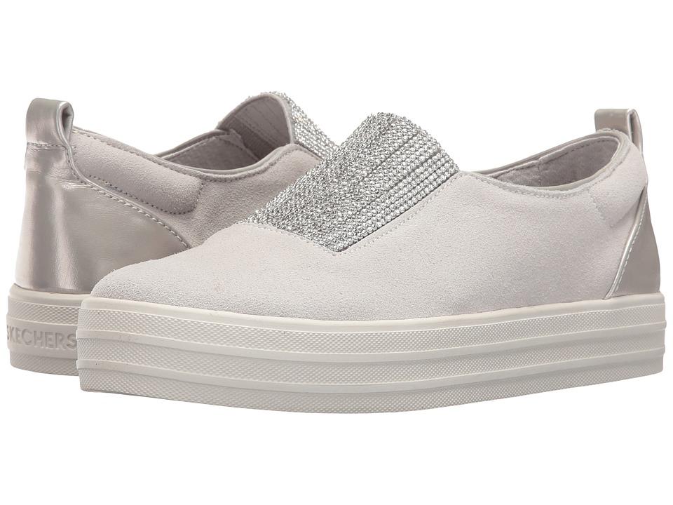 SKECHERS - Double - Dazzle'e (Gray) Women's Slip on Shoes