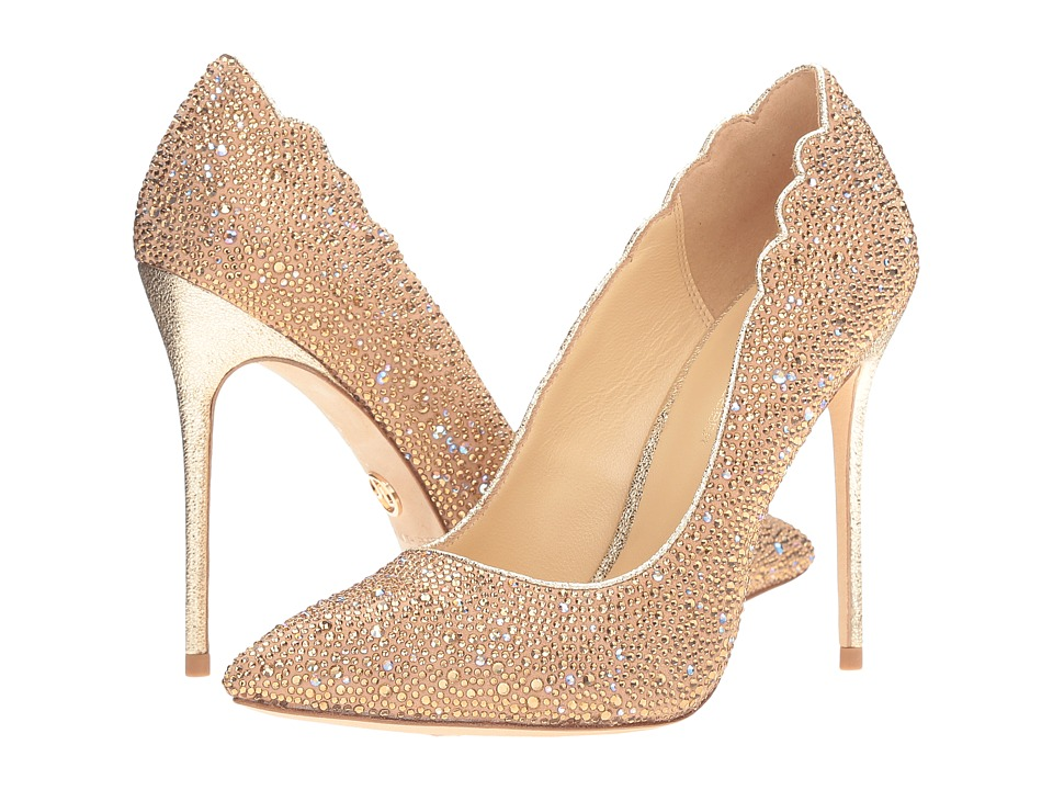 JL by Judith Leiber - Jasmine (Nude Suede) Women's Shoes