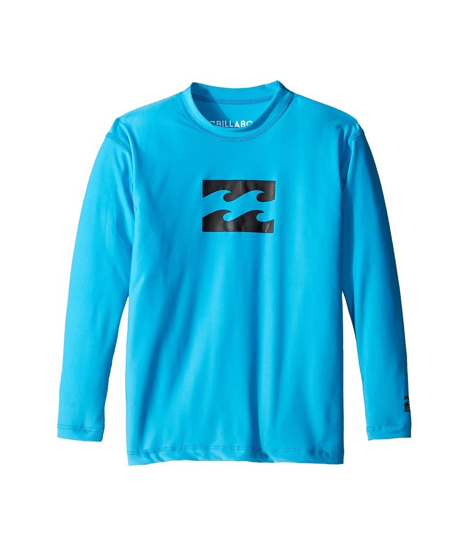 Billabong Kids - All Day Wave Long Sleeve LF Wetshirt (Toddle/Little Kids/Big Kids) (New Blue) Boy's Long Sleeve Pullover