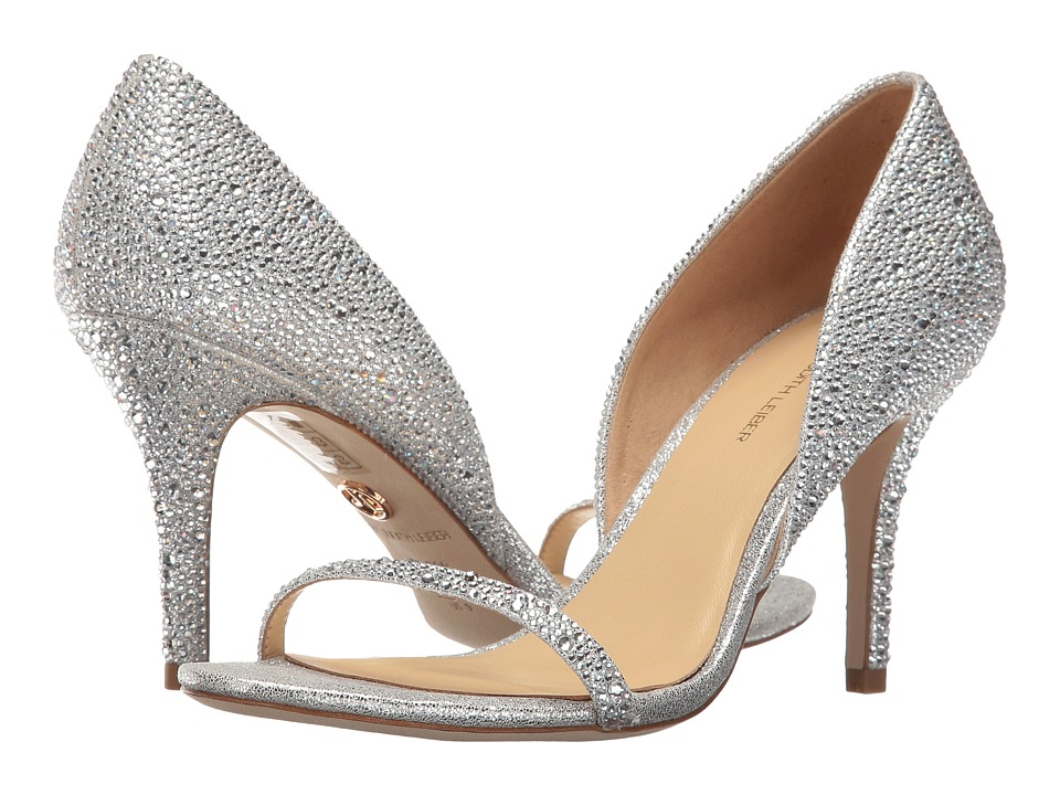 JL by Judith Leiber Michela (Silver Glitter Leather) Women