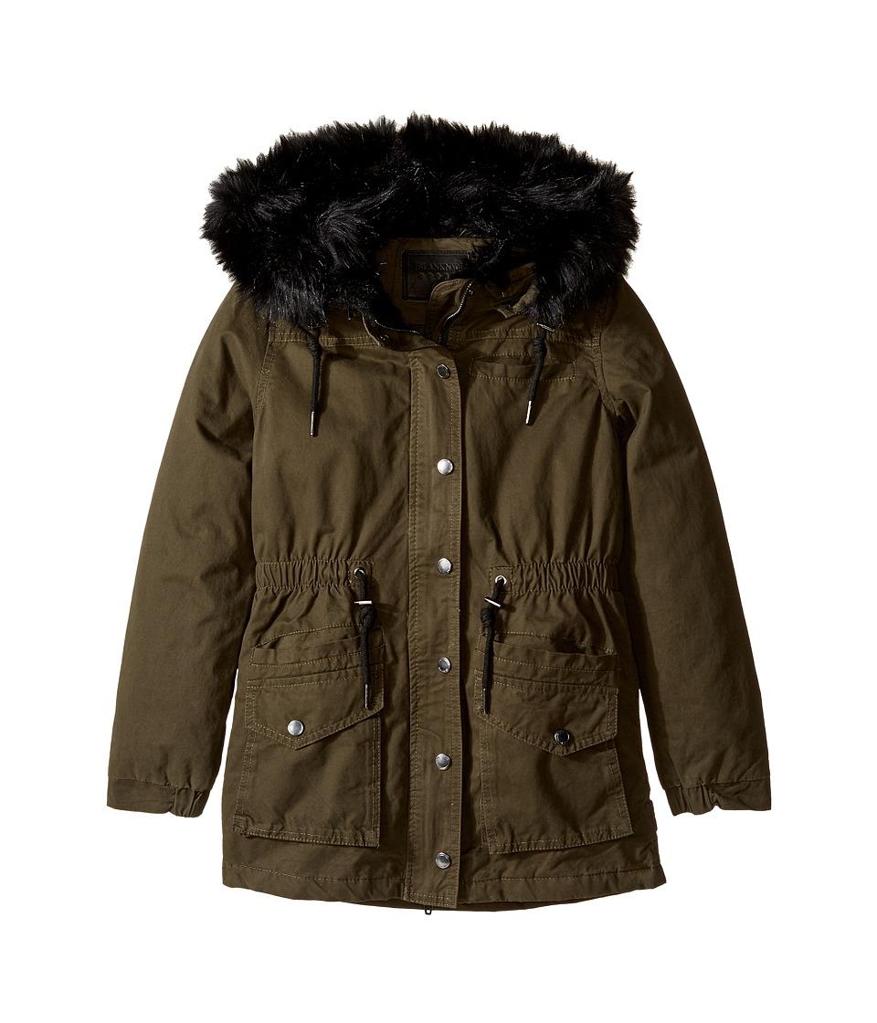 Blank NYC Kids - Faux Fur Long Jacket (Big Kids) (Stoner's Paradise) Girl's Coat