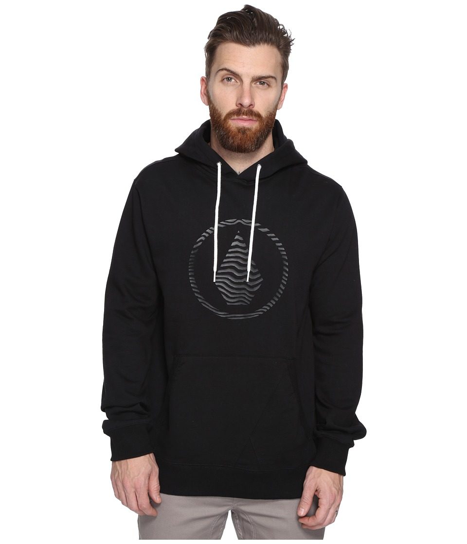 Volcom - Stone Pullover Hoodie (New Black) Men's Sweatshirt