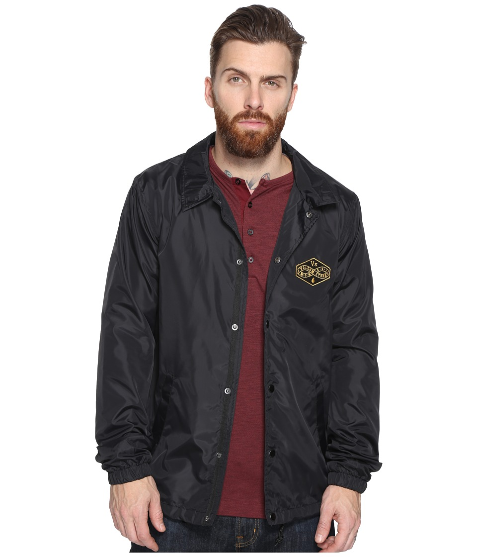 Volcom - Recall Coaches Jacket (Black) Men's Coat
