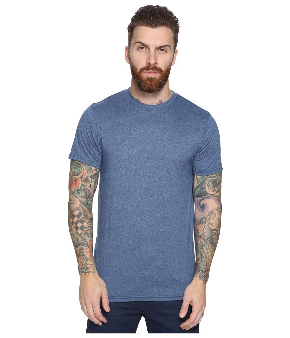 Volcom - Heather Solid T-Shirt (Smokey Blue) Men's T Shirt