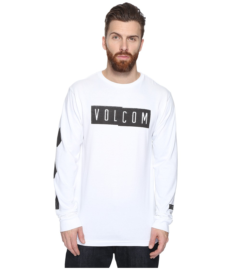 Volcom - Shifty Long Sleeve T-Shirt (White) Men's T Shirt