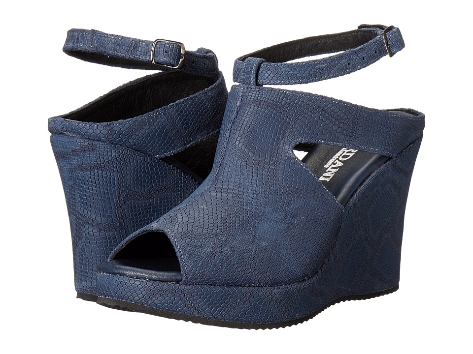 Cordani - Wills (Blue Cobra Print) Women's Wedge Shoes