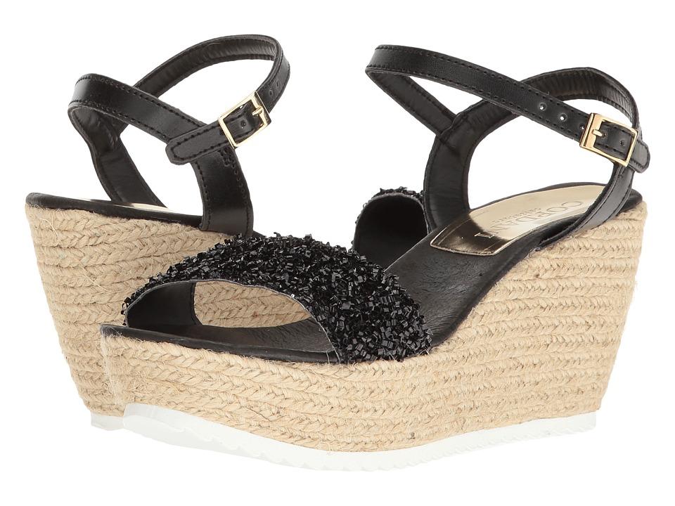 Cordani - Hydra (Black Glitter) Women's Wedge Shoes