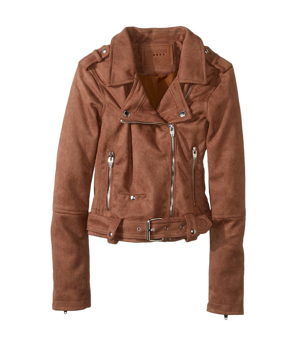 Blank NYC Kids - Faux Suede Moto Jacket in Coffee Bean (Big Kids) (Coffee Bean) Girl's Coat