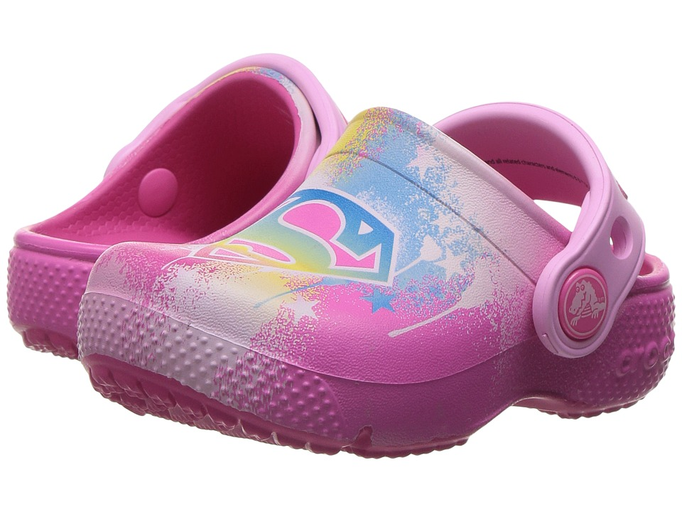 Crocs Kids - CrocsFunLab Supergirl (Toddler/Little Kid) (Candy Pink) Girl's Shoes