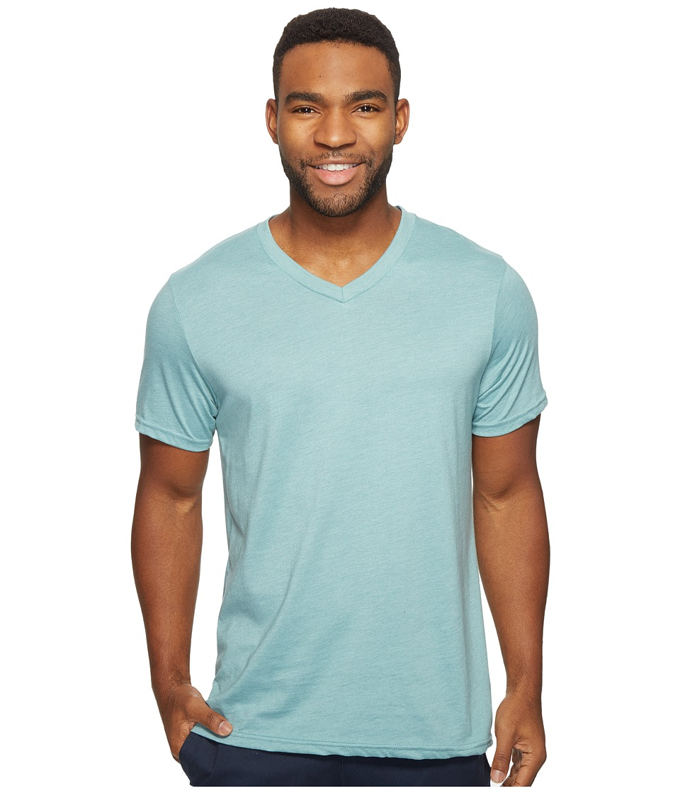 Volcom - Heather Short Sleeve V-Neck T-Shirt (Sea Blue Heather) Men's T Shirt