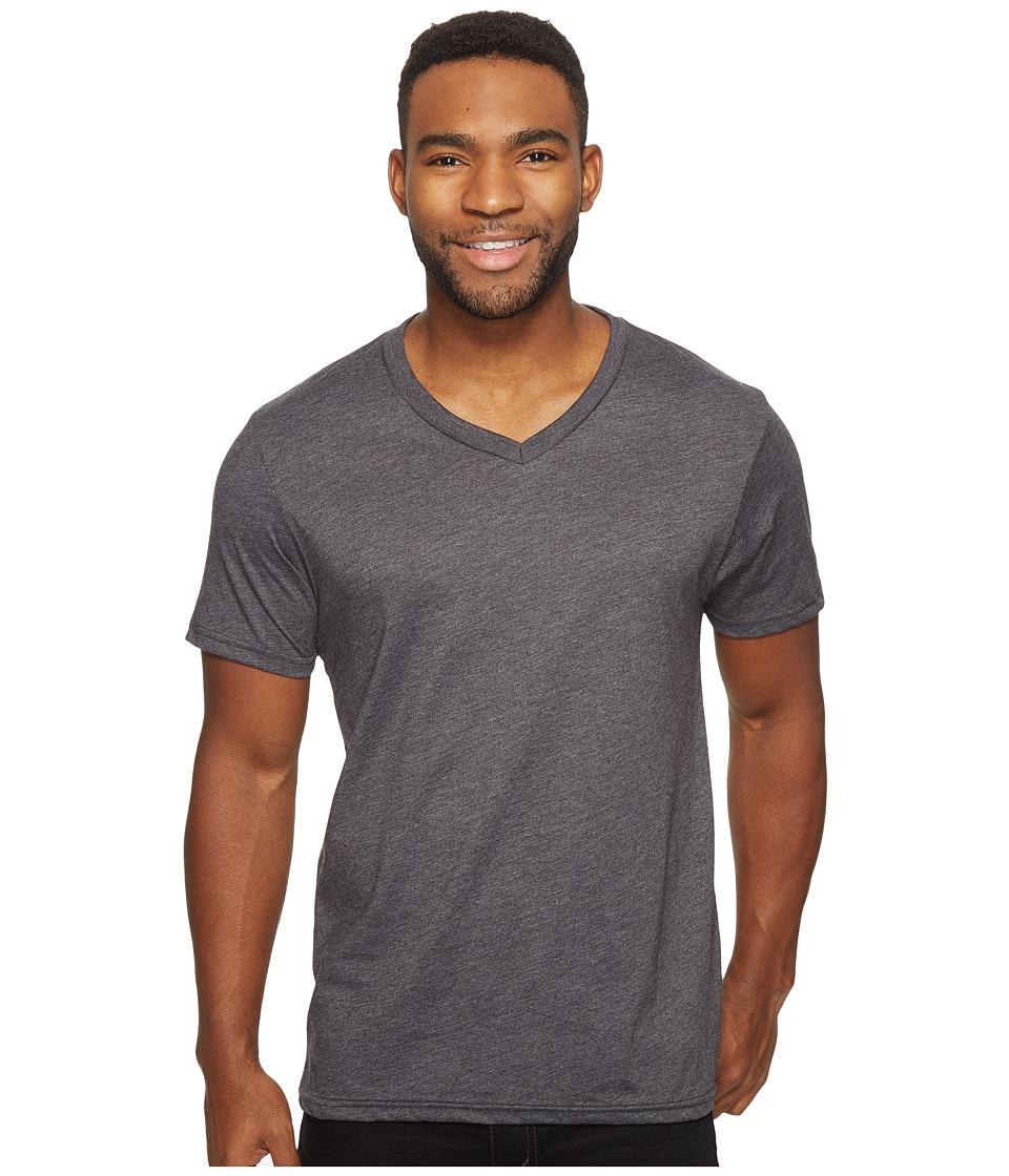 Volcom Heather Short Sleeve V-Neck T-Shirt (Heather Black) Men