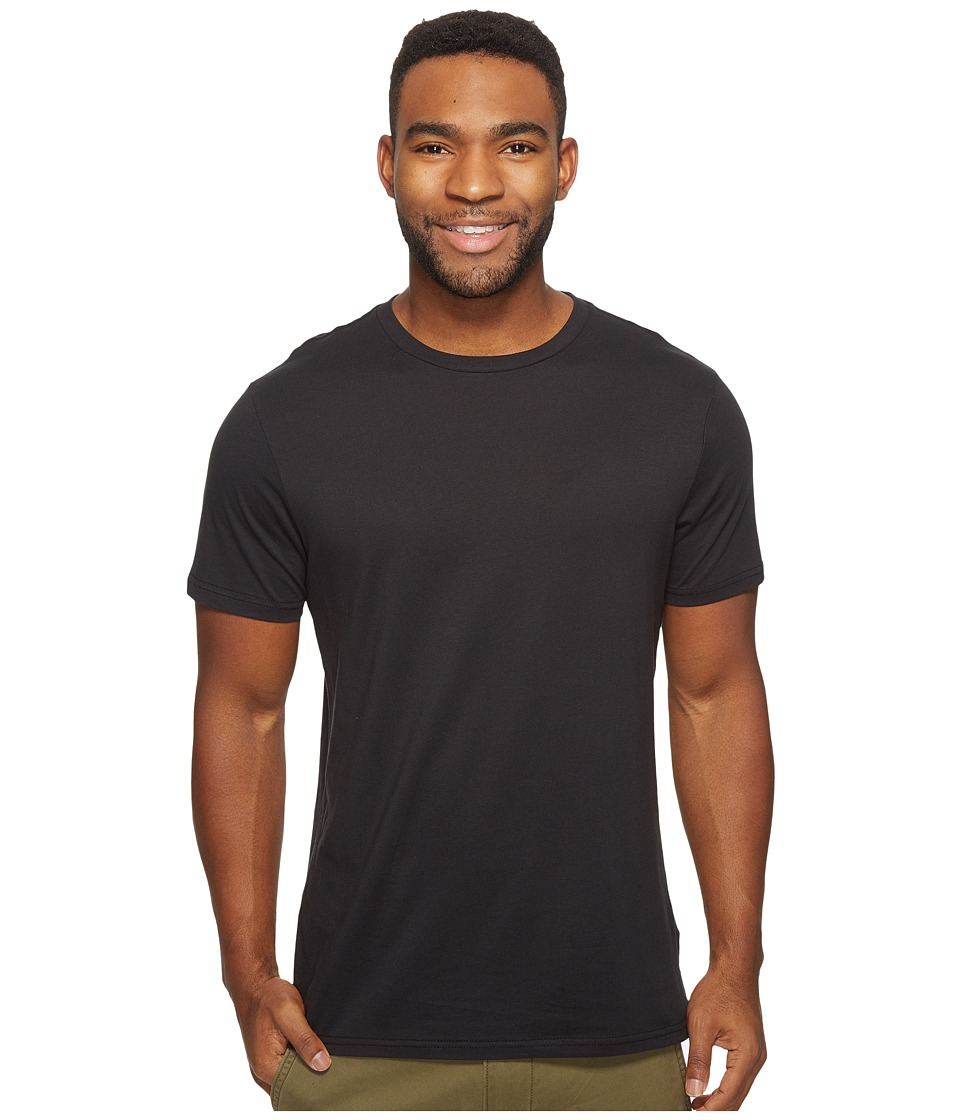 Volcom - Solid Short Sleeve T-Shirt (Black) Men's T Shirt
