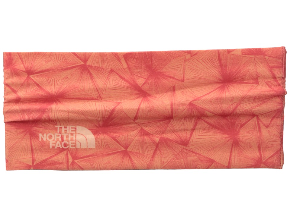 The North Face - Dipsea Half Headband (Burnt Coral Linear Floral Print) Headband