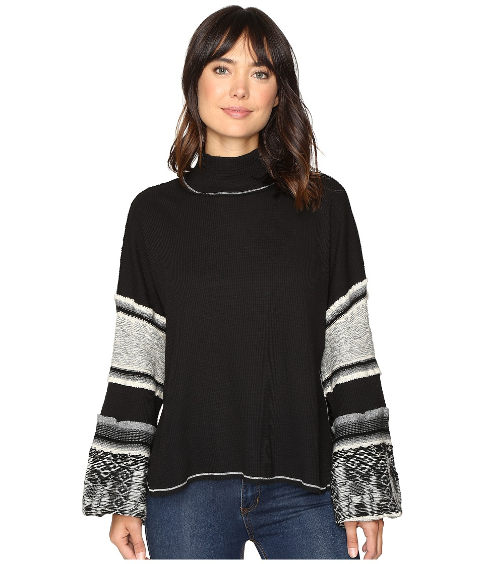 Free People - Northern Lights Swit Top (Black) Women's Clothing