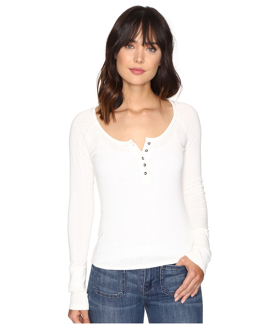 Free People - Sugar and Spice Henley (Ivory) Women's Clothing