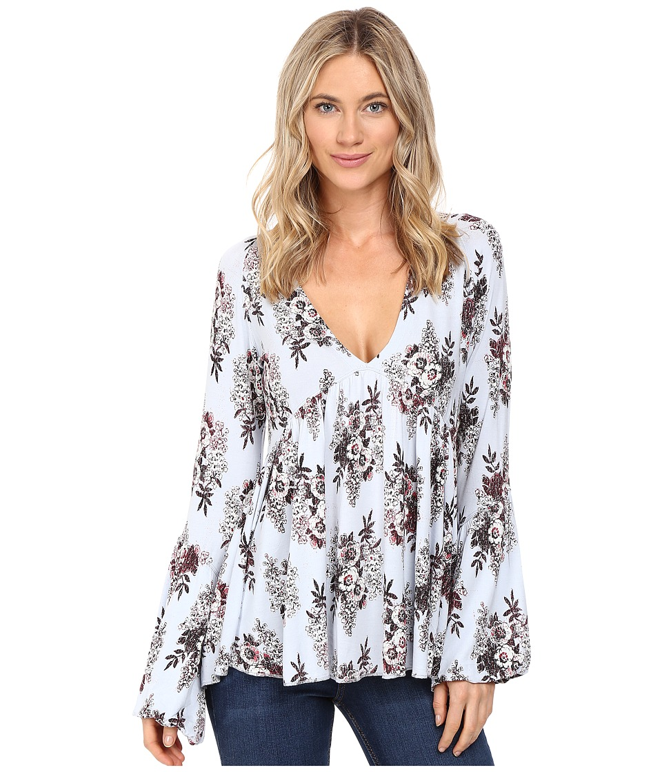 Free People - Speak Easy Top (Sky) Women's Clothing