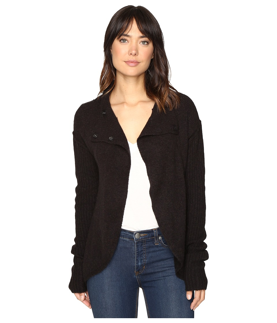 Free People - Cascade Cardigan (Dark Grey) Women's Sweater