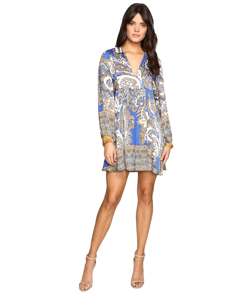 Free People - Say You Love Me Mini Dress (Blue Combo) Women's Dress