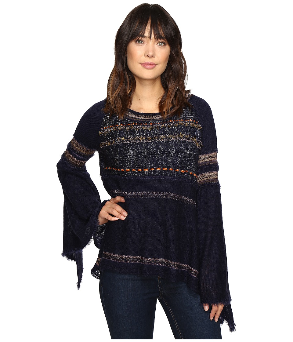 Free People - Craft Time Sweater (Navy) Women's Sweater