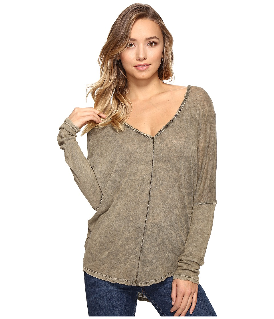 Free People - Santa Cruz Henley (Moss) Women's Clothing