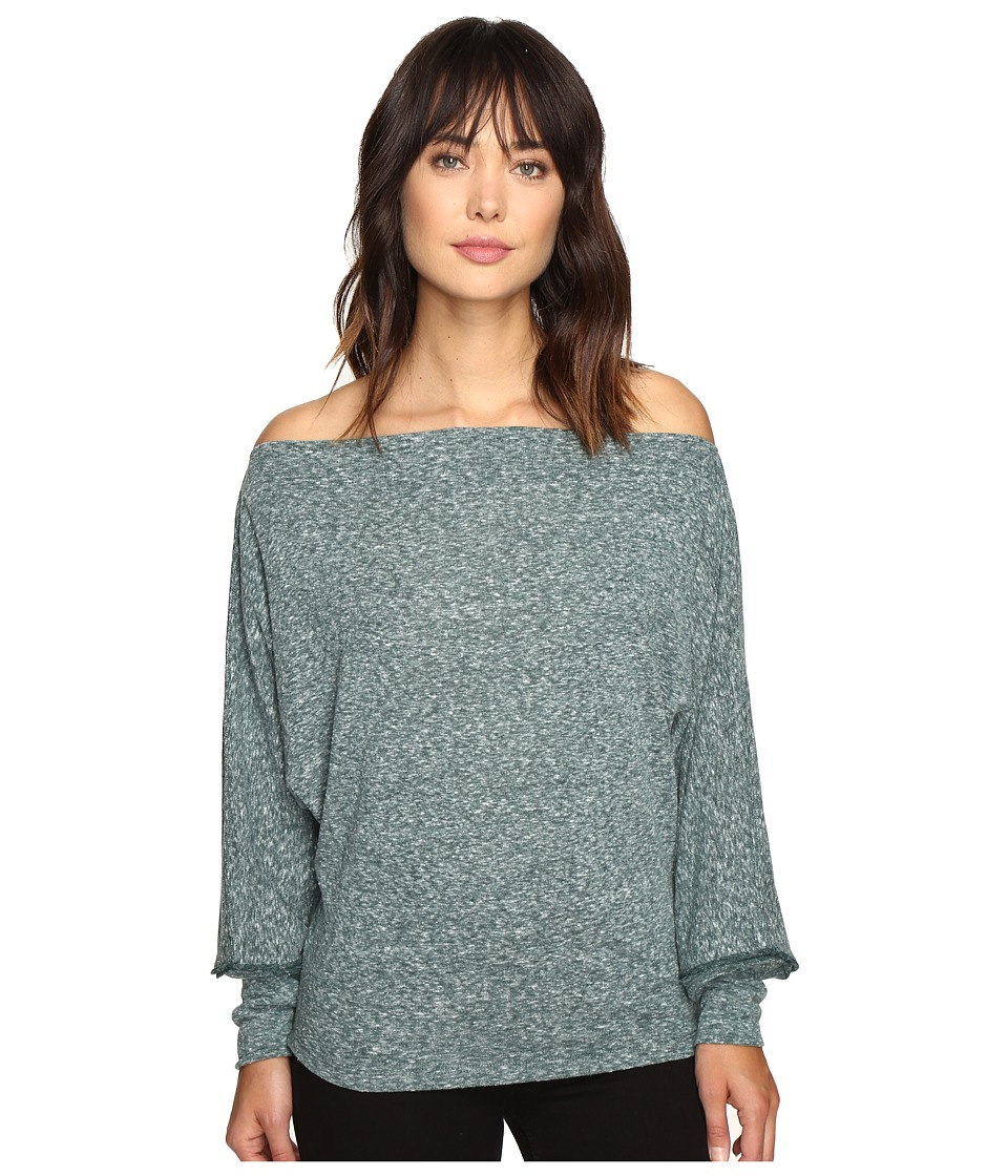 Free People - Valencia Off the Shoulder Top (Turquoise) Women's Clothing