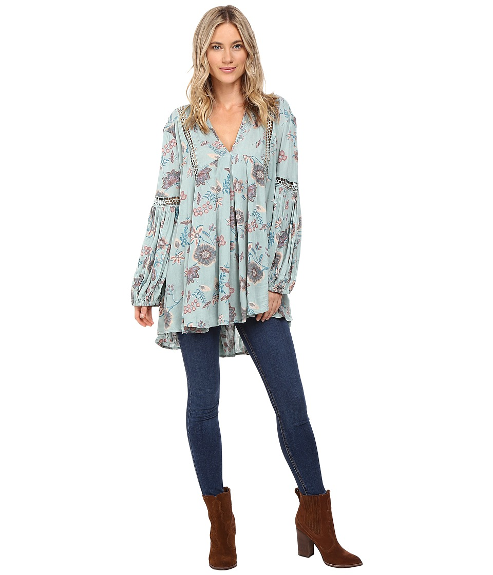 Free People - Just The Two of Us Tunic (Blue) Women's Clothing