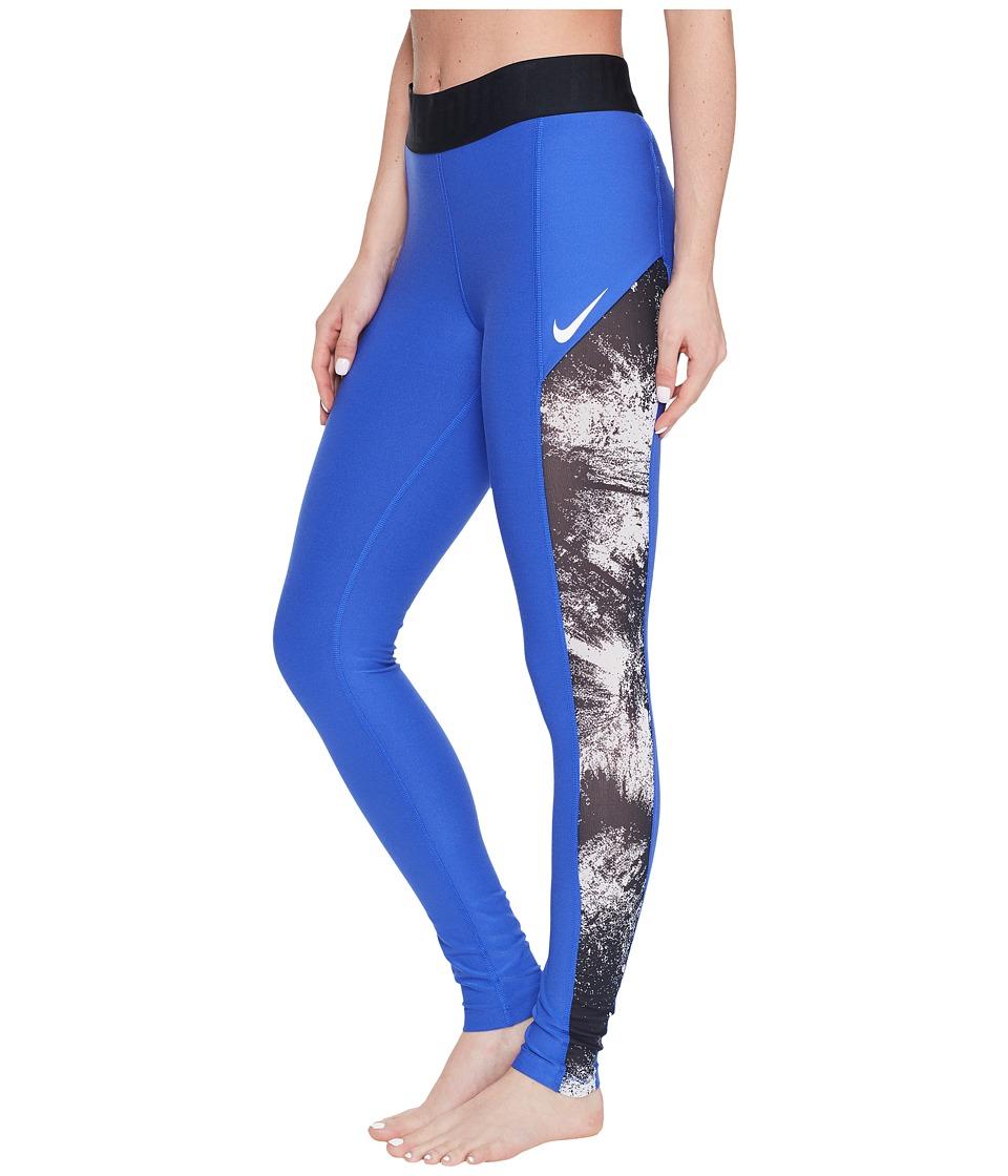 Nike - Court Power Tennis Tight (Paramount Blue/Black/White) Women's Casual Pants