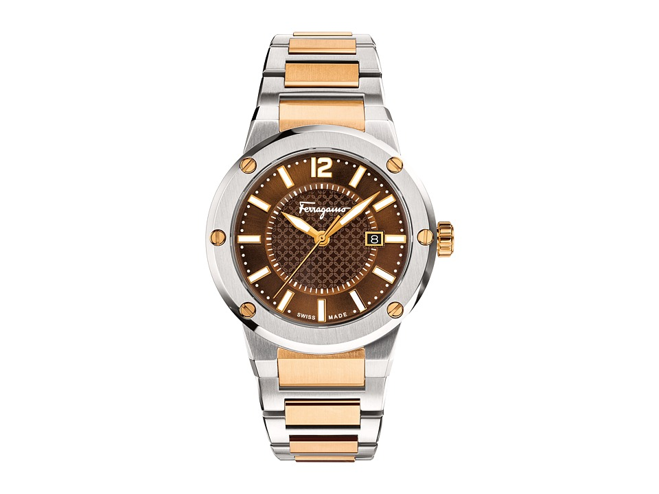 Salvatore Ferragamo - F-80 FIF040015 (Two-Tone) Watches