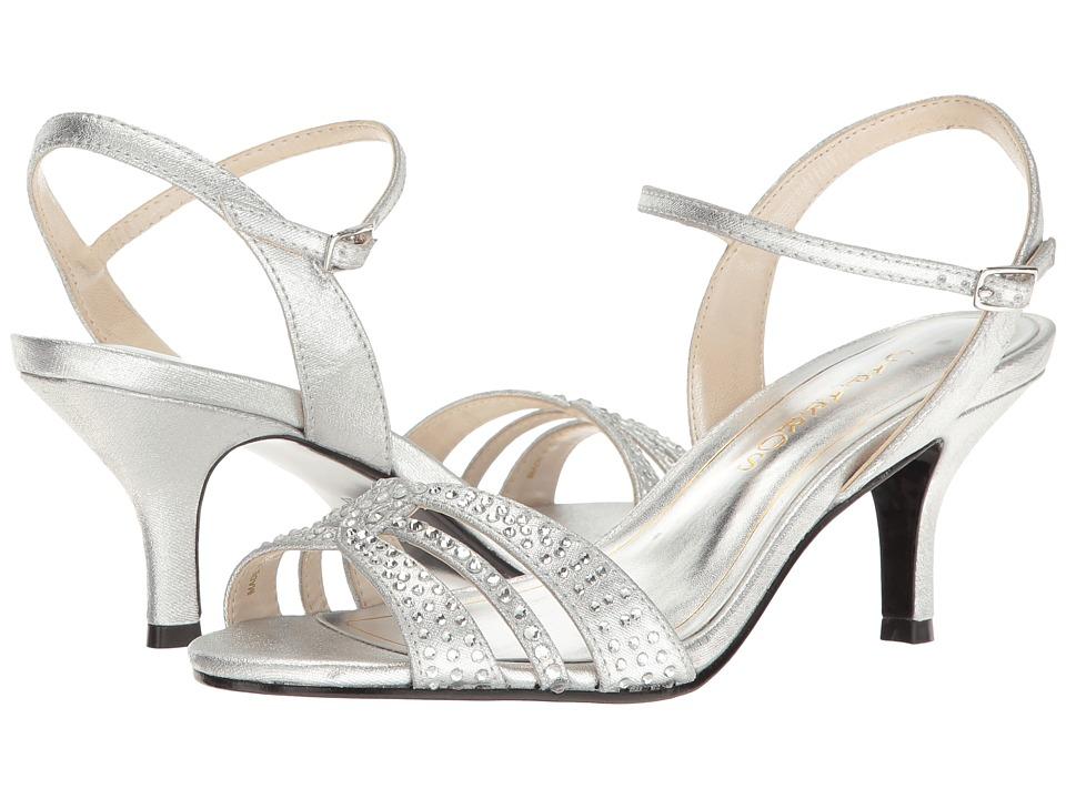 Caparros - Gemini (Silver Metallic Fabric) Women's Dress Sandals