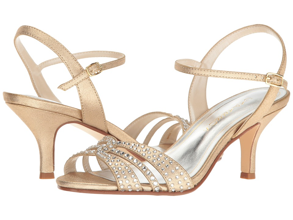Caparros - Gemini (Gold Metallic Fabric) Women's Dress Sandals