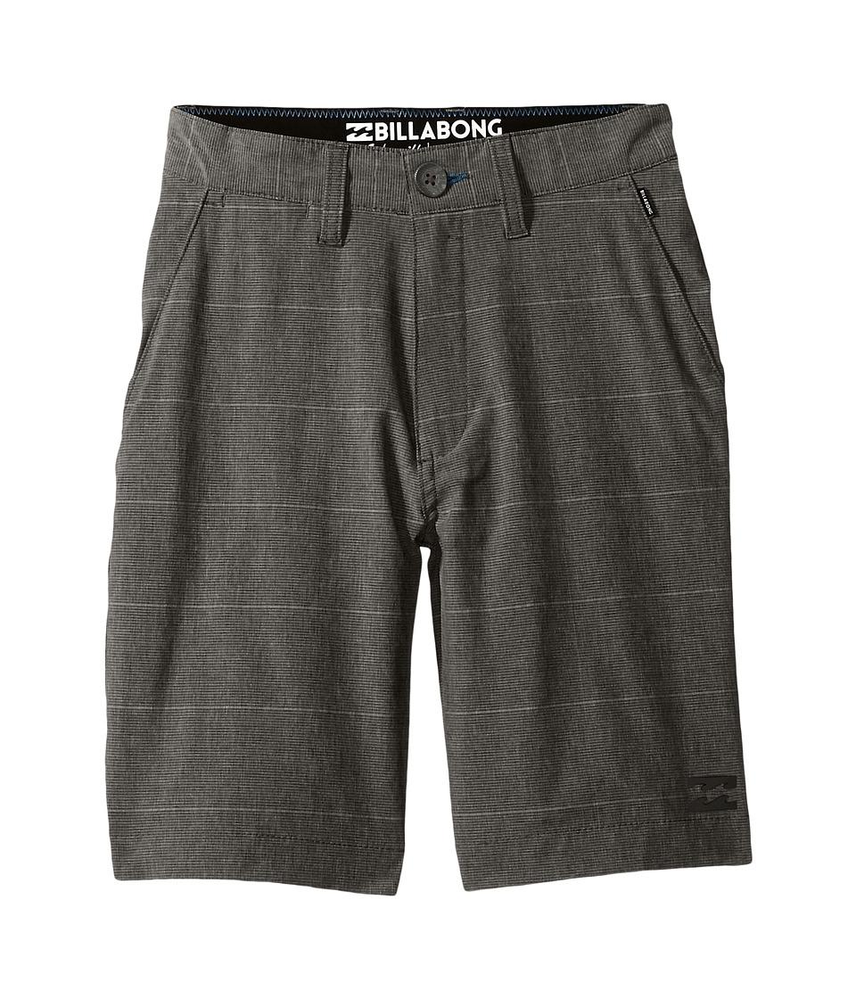 Billabong Kids - Crossfire X Stripe Shorts (Big Kids) (Asphalt) Boy's Shorts