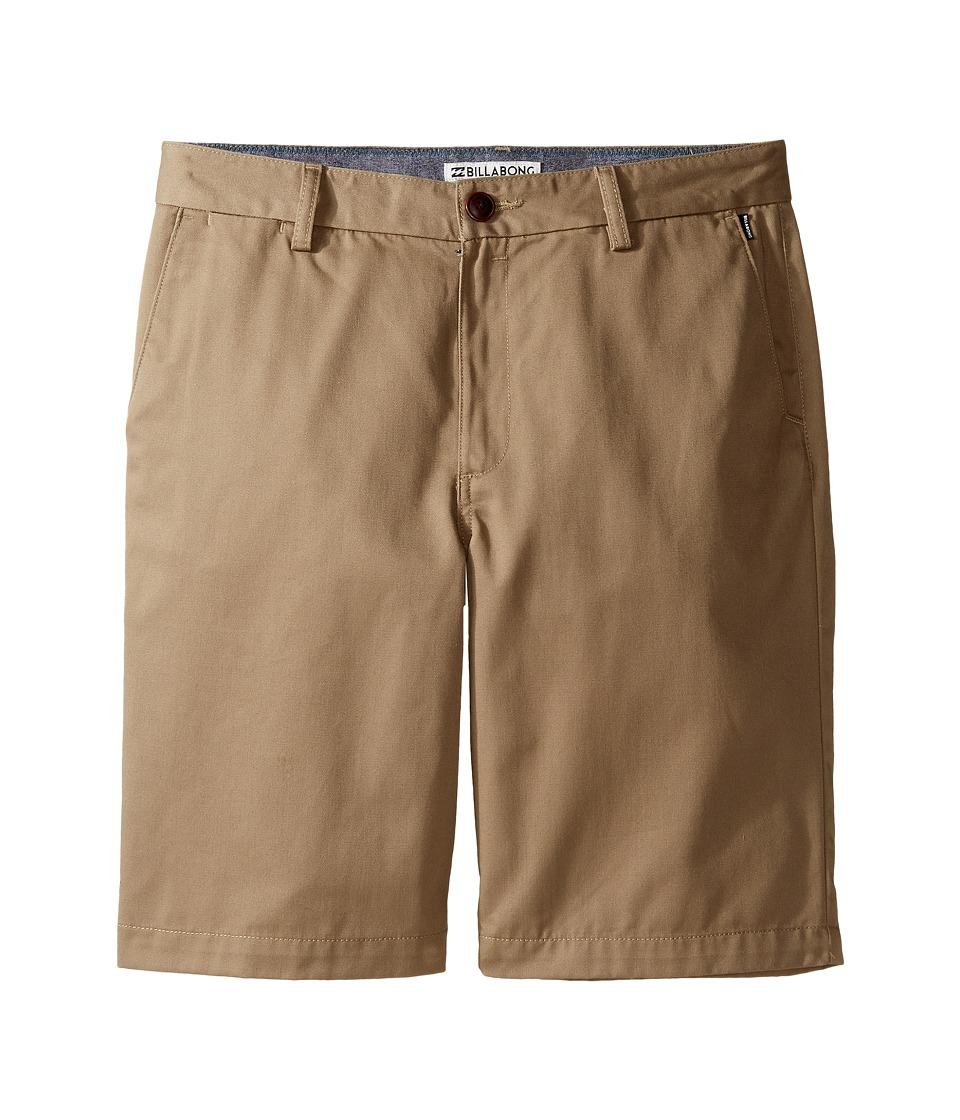 Billabong Kids - Carter (Big Kids) (Dark Khaki) Boy's Shorts